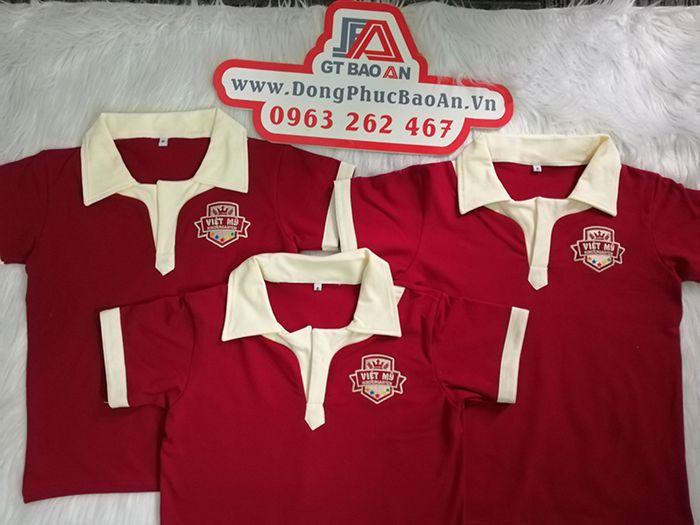 Áo thun đồng phục học sinh trường quốc tế Việt Mỹ 01