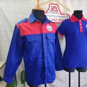 Đặt may áo bảo hộ cơ khí Minh Nguyên - Áo thun đồng phục 01
