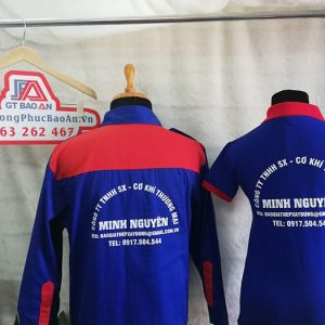 Đặt may áo bảo hộ cơ khí Minh Nguyên - Áo thun đồng phục 02