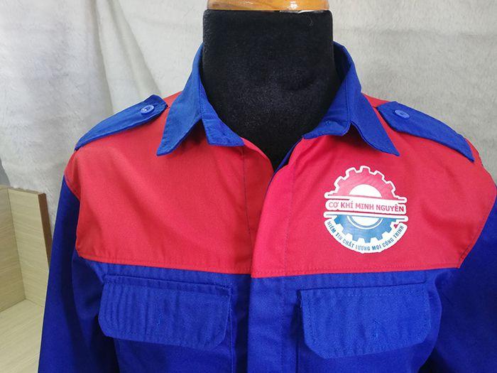 Đặt may áo bảo hộ cơ khí Minh Nguyên - Áo thun đồng phục 03