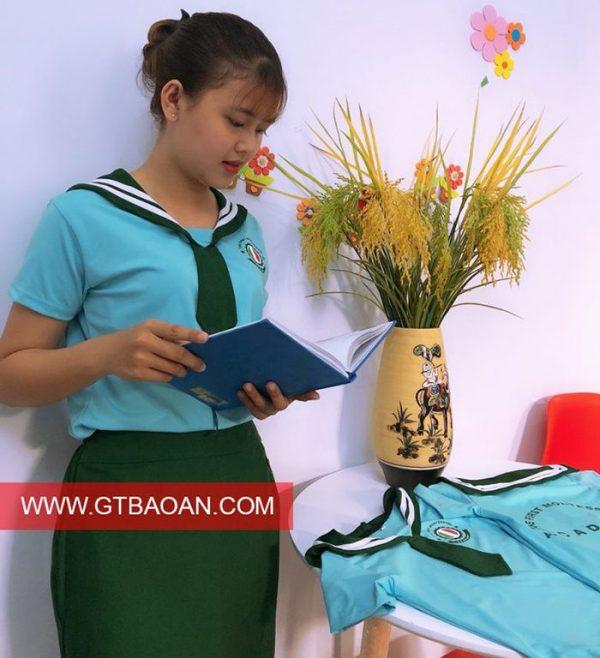 Mẫu đồng phục cô giáo mầm non đẹp dễ thương 01