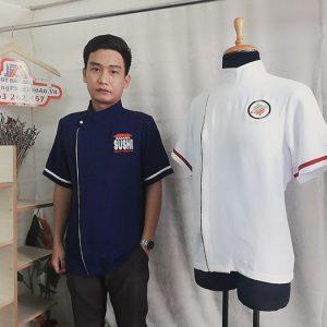 Đồng phục nhà hàng Nhật - Áo Bếp, Tạp Dề cửa hàng Sushi 03