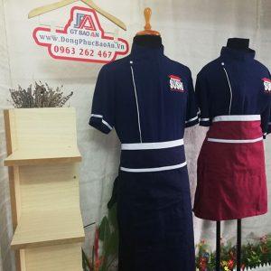 Đồng phục nhà hàng Nhật - Áo Bếp, Tạp Dề cửa hàng Sushi 04