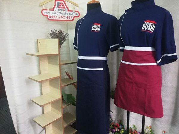 Đồng phục nhà hàng Nhật - Áo Bếp, Tạp Dề cửa hàng Sushi 05
