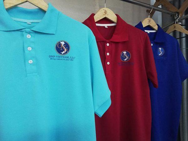 Mẫu áo thun polo có cổ đồng phục công ty ONP 01