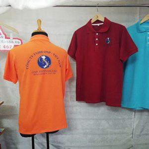Mẫu áo thun polo có cổ đồng phục công ty ONP 02