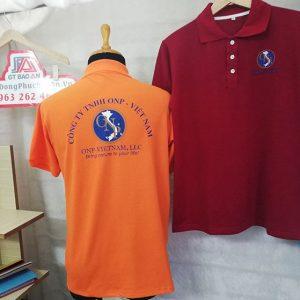 Mẫu áo thun polo có cổ đồng phục công ty ONP 04