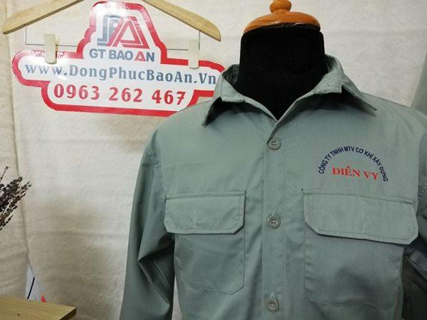 May áo bảo hộ lao động nhân viên cơ khí xây dựng Công Ty Điền Vy 03