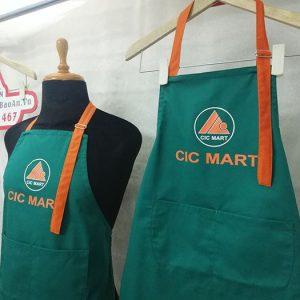 May đồng phục tạp dề siêu thị CIC Mart - Tạp dề giá rẻ 01