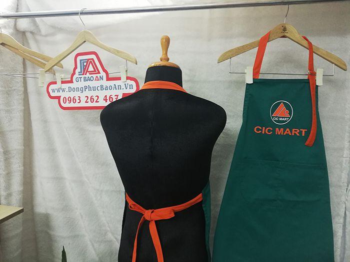 May đồng phục tạp dề siêu thị CIC Mart - Tạp dề giá rẻ 02
