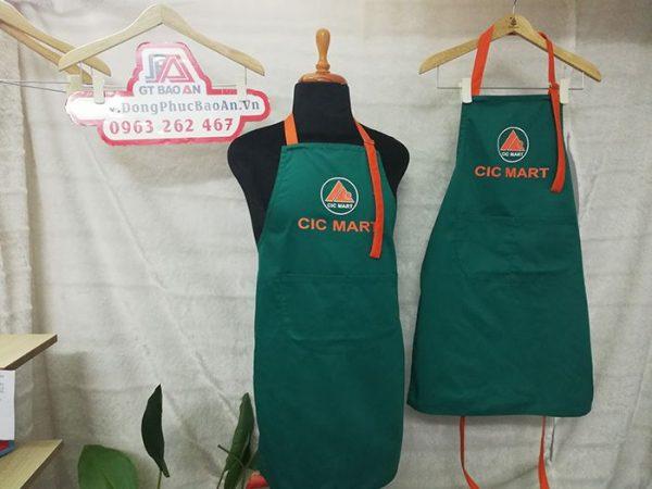 May đồng phục tạp dề siêu thị CIC Mart - Tạp dề giá rẻ 03