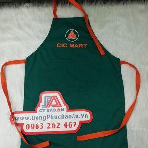 May đồng phục tạp dề siêu thị CIC Mart - Tạp dề giá rẻ 04