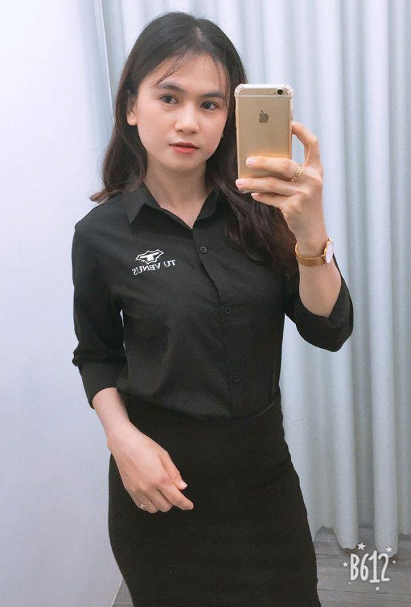 Áo sơ mi nam nữ đồng phục shop bán hàng - Tú Venus 03