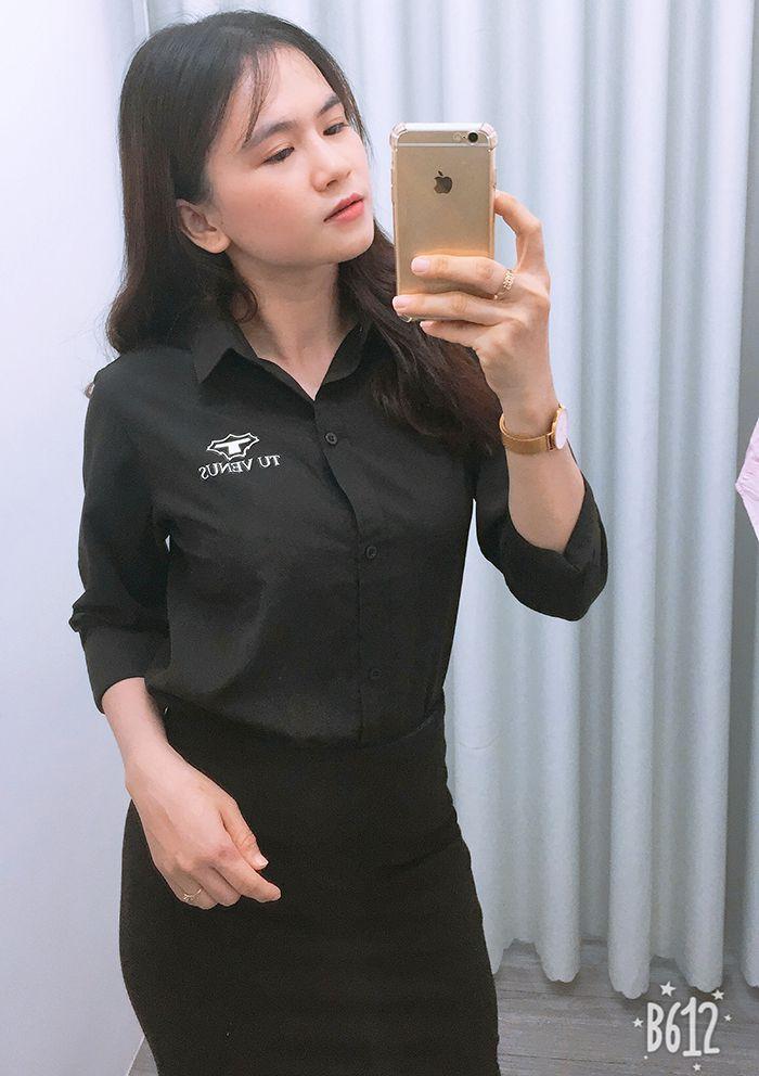 Áo sơ mi nam nữ đồng phục shop bán hàng - Tú Venus 04