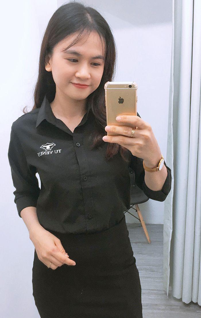 Áo sơ mi nam nữ đồng phục shop bán hàng - Tú Venus 05