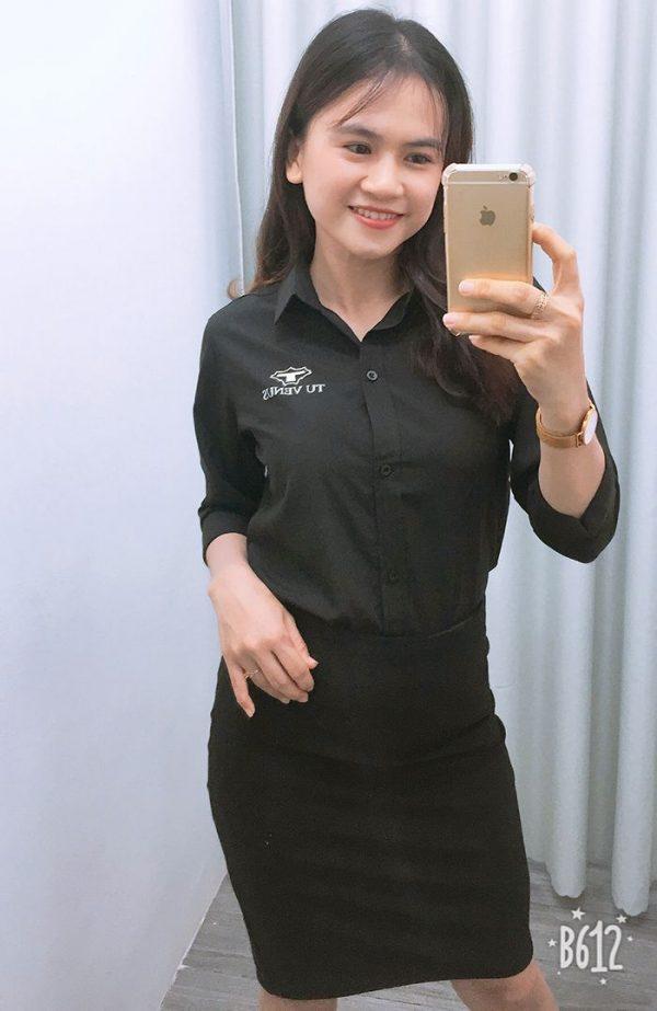 Áo sơ mi nam nữ đồng phục shop bán hàng - Tú Venus 06