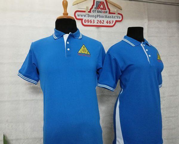 Áo thun cổ bẻ đồng phục cao cấp công ty Ha Lan Tech 01