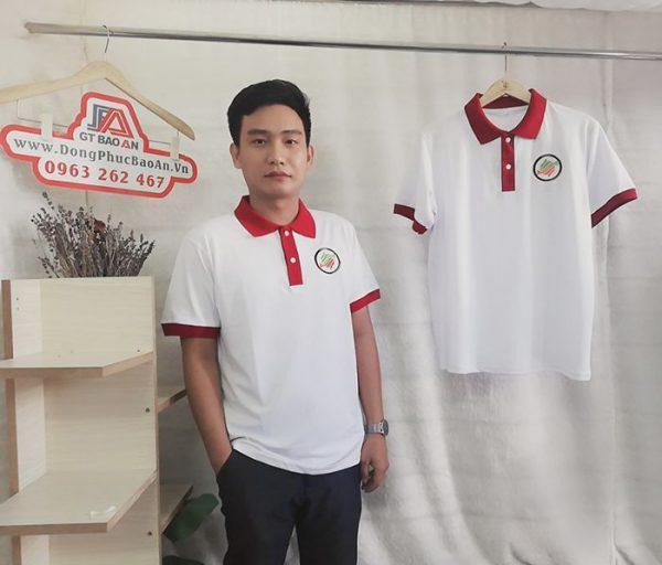 Áo thun Polo cổ trụ đồng phục nhà hàng Nhật 3RI I-CHI SUSHI 01