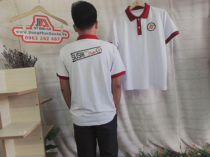 Áo thun Polo cổ trụ đồng phục nhà hàng Nhật 3RI I-CHI SUSHI 03
