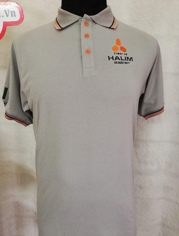 Áo thun Polo đồng phục công ty xe máy 50cc - Halim 03