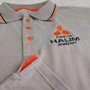 Áo thun Polo đồng phục công ty xe máy 50cc - Halim 04