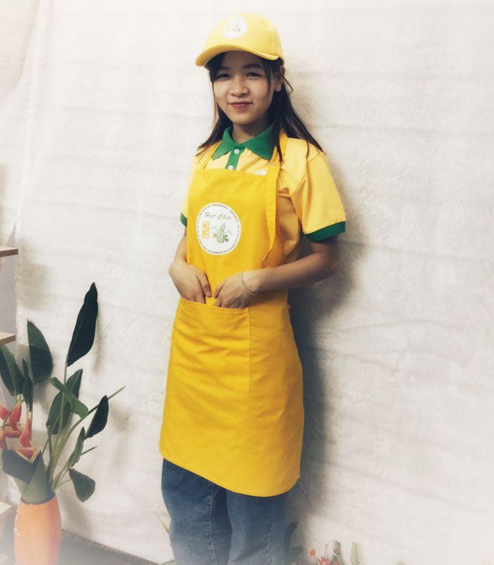Áo thun - tạp dề - nón kết thương hiệu trà bí đao Hạt Chia 03