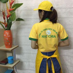 Áo thun - tạp dề - nón kết thương hiệu trà bí đao Hạt Chia 04
