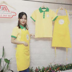 Áo thun - tạp dề - nón kết thương hiệu trà bí đao Hạt Chia 05