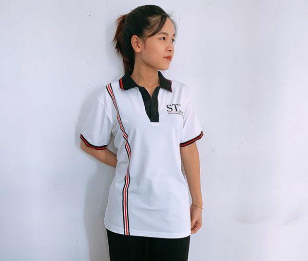 Đồng phục áo thun cổ V công ty mỹ phẩm ST Beauty 02