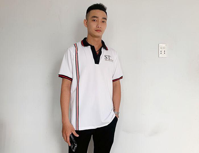 Đồng phục áo thun cổ V công ty mỹ phẩm ST Beauty 04