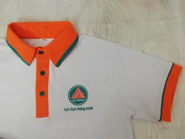 May áo thun cổ trụ đồng phục siêu thị CIC MART 02