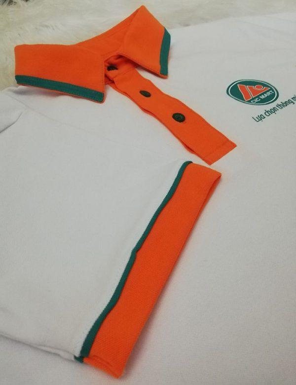 May áo thun cổ trụ đồng phục siêu thị CIC MART 05