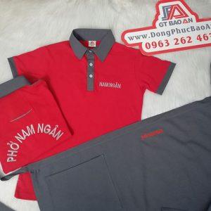 May áo thun đồng phục và tạp dề quán phở Nam Ngân 02