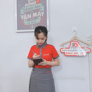 May áo thun đồng phục và tạp dề quán phở Nam Ngân 04