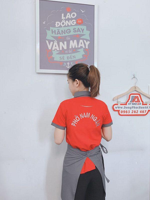 May áo thun đồng phục và tạp dề quán phở Nam Ngân 05