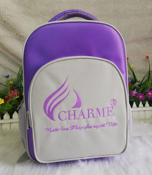 May balo quà tặng công ty nước hoa Charme 01