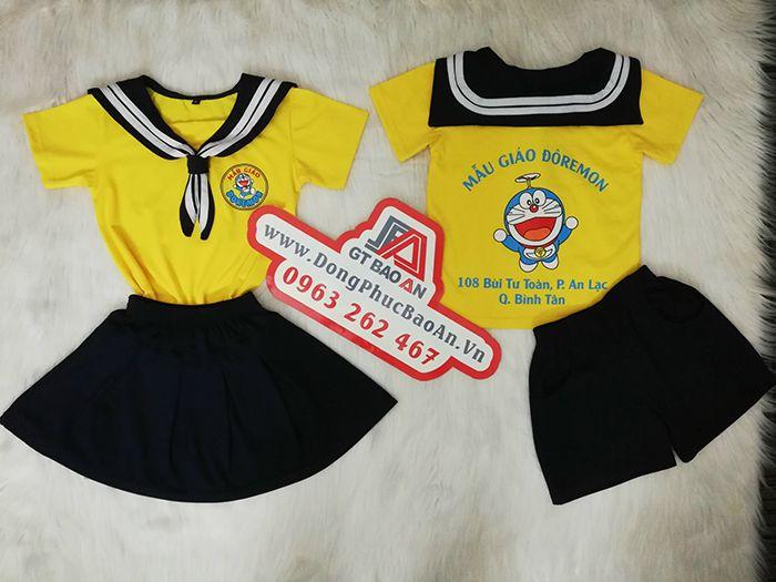 May đồng phục trường mầm non mẫu giáo - ĐÔRÊMON 02