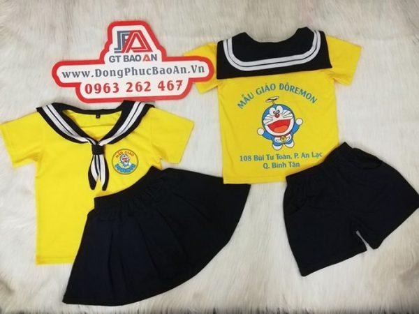 May đồng phục trường mầm non mẫu giáo - ĐÔRÊMON 03