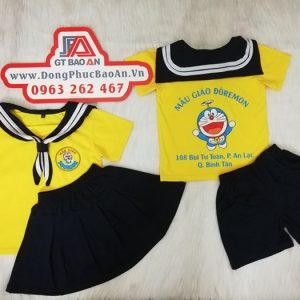 May đồng phục trường mầm non mẫu giáo - ĐÔRÊMON 04