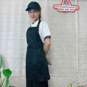 Tạp Dề Kaki Màu Đen Làm Bếp, Nấu Ăn, Nội Trợ 01