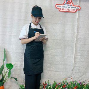 Tạp Dề Kaki Màu Đen Làm Bếp, Nấu Ăn, Nội Trợ 02