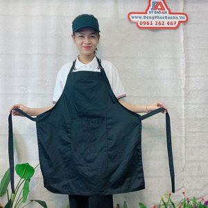 Tạp Dề Kaki Màu Đen Làm Bếp, Nấu Ăn, Nội Trợ 03