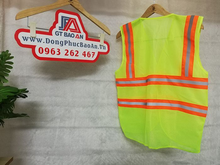 Áo lưới 3M phản quang màu chuối bảo hộ mã M2