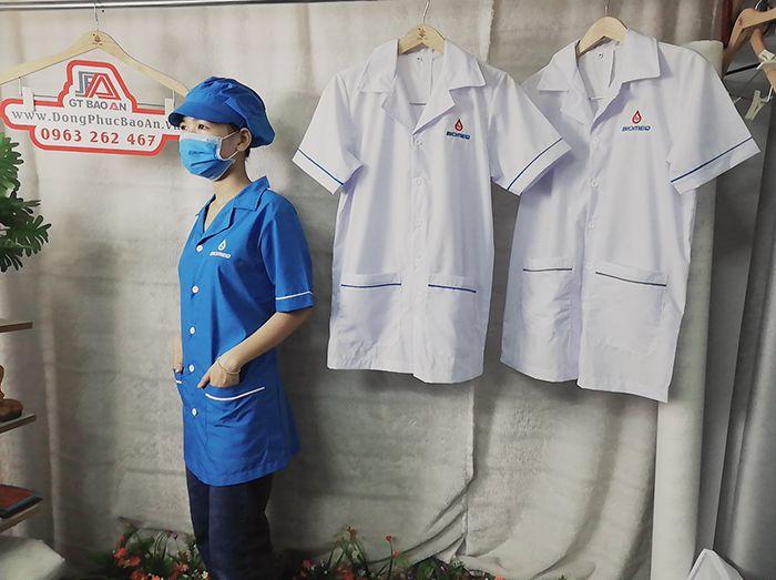 Áo blouse bác sĩ - Áo phẫu thuật loại đẹp 02