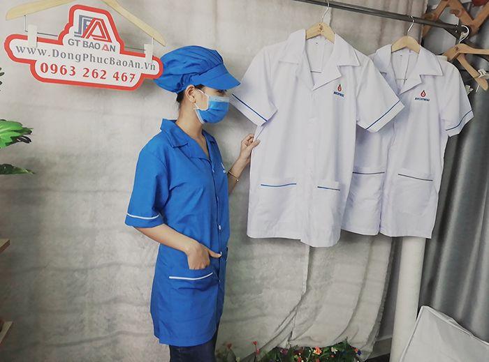 Áo blouse bác sĩ - Áo phẫu thuật loại đẹp 03