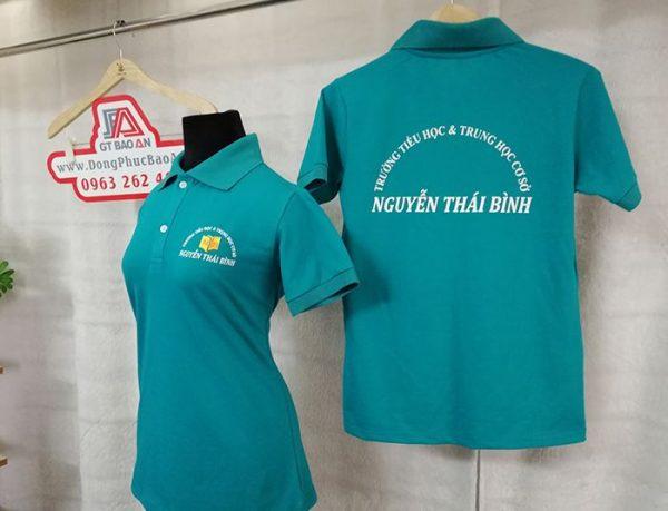 Áo thun đồng phục giáo viên trường Nguyễn Thái Bình 01