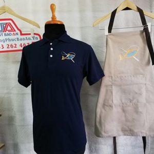 Áo thun - tạp dề đồng phục quán, nhà hàng Throwers Fish & Chips 01