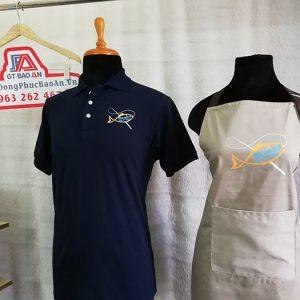 Áo thun - tạp dề đồng phục quán, nhà hàng Throwers Fish & Chips 02