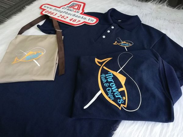 Áo thun - tạp dề đồng phục quán, nhà hàng Throwers Fish & Chips 03