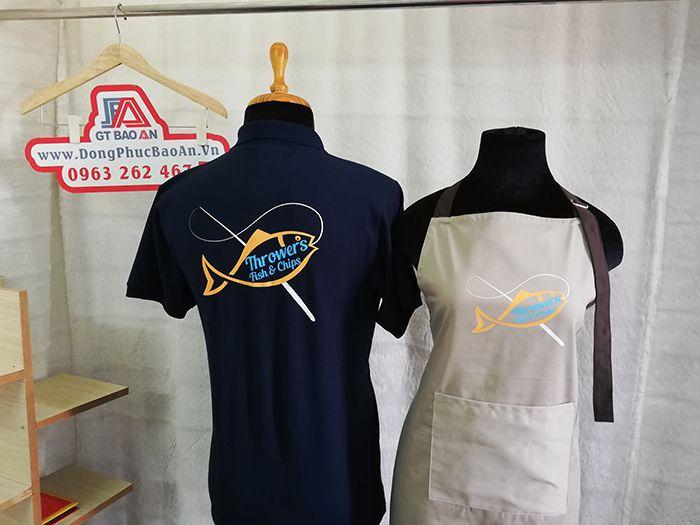 Áo thun - tạp dề đồng phục quán, nhà hàng Throwers Fish & Chips 04